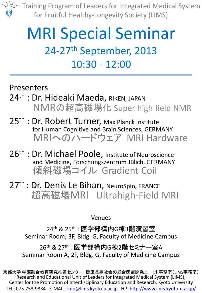 LIMS-MRI_Special_Seminar_Sep2013